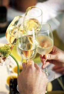 Le bon vin avec la bonne recette stock food