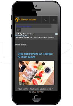 Une version Smartphone pour aftouch-cuisine