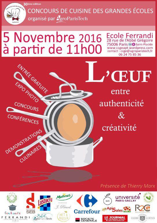 Concours de cuisine des grandes écoles 2016 Patrick.asfaux@aftouch.fr
