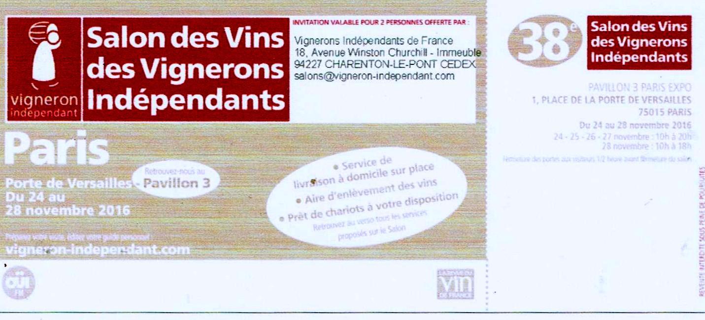 SALON DES VITICULTEURS INDEPENDANTS Patrick.asfaux@aftouch.fr