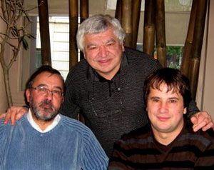 Un visage sur un nom... Stéphane  à gauche avec Patrick Asfaux et Ivan dernier repas Aftouch...