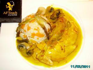 Aiguillettes de poulette de Racan pochée