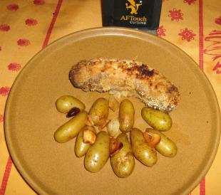 Roast andouillette in wholegrain mustard crust