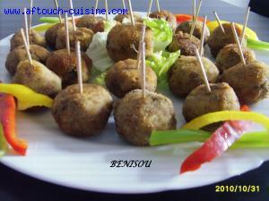Boulettes de viande hachée à la semoule