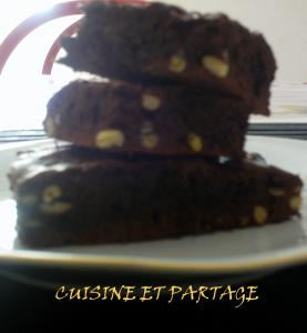 Brownies au chocolat et pignon de pin
