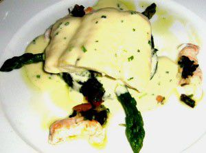 Brill with Spinach and Asparagus