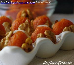 Boules de potiron et noix