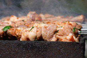Veal kebabs