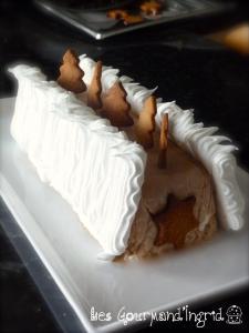 Bûche glacée à la crème de marrons meringuée