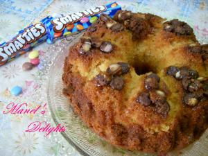Cake couronne aux smarties et à l'orange