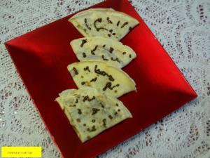 Crêpes pistache et crème au chocolat