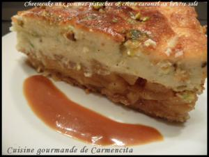 Cheesecake pommes-pistaches et cr�me caramel