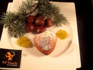 Coeur de madeleine à la châtaigne