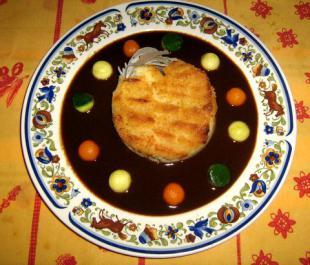 Compotée de sanglier au foie gras