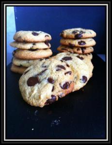 Cookies aux amandes et pepites de chocolat...