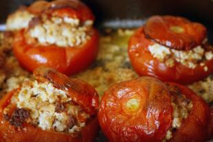 Coques de tomates gratin�es