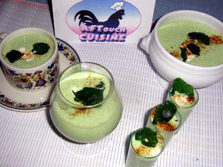 Iced Cream of Watercress Soup