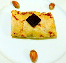 Chocolate and Hazelnuts Crepes