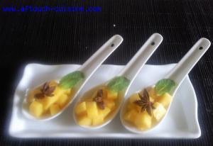 Cuillères de mangue et badiane