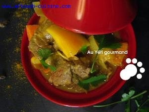 Curry d'agneau exotique