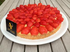 Dacquoise aux fraises et à la verveine