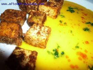 Emincé de tofu au potimarron