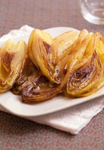 Orange caramelised endives
