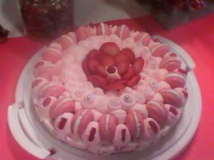 Entremet à la fraise façon tarte.