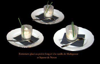 Entremets glac� au poivre long et � la vanille de Madagascar