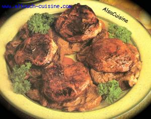 Filets de boeuf aux c�pes, � la braise
