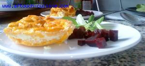 Flan de carottes et ch�vre frais
