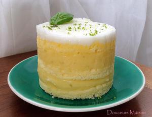 Fondant citron vert et sa chantilly de basilic