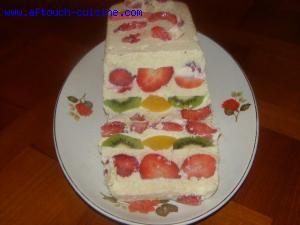 Fruits à la crème d'amandes