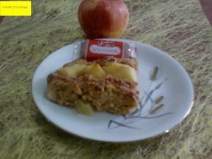 Gâteau aux pommes, miel et spéculoos