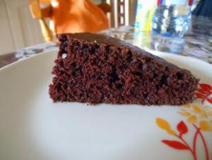 G�teau chocolat �clair sans oeuf