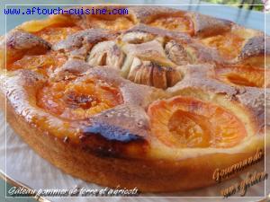 Gâteau pommes de terre aux abricots