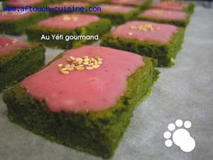 Gâteaux au thé vert Matcha