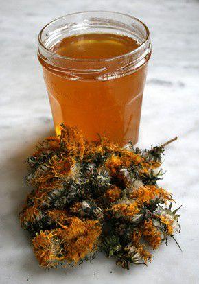 Gel�e de fleurs de pissenlit
