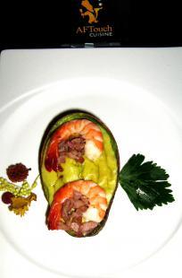 Avocat souffl� en coque