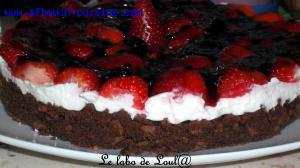 Mascarpone cake aux fraises