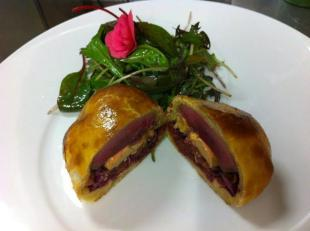 Pigeon et  foie gras en cage gourmande