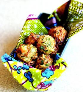 Accras de manioc et crevettes