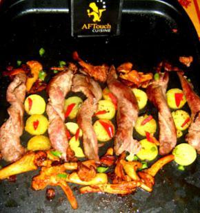 Les Tortillons d'aiguillettes de  canard grillés