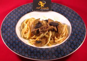 Linguines foie gras poelé et truffes