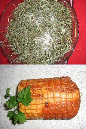 Longe de porc en croûte de Foin