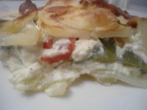 Millefeuille de pommes de terre aux 2 poivrons