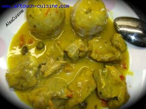 Mon saut� de porc au curry