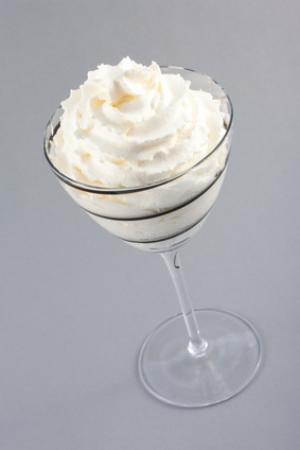 Mousseline de chocolat blanc