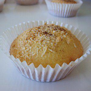 Muffins coco, coeur choco
