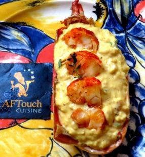 Oeufs brouillés médaillons de homard breton